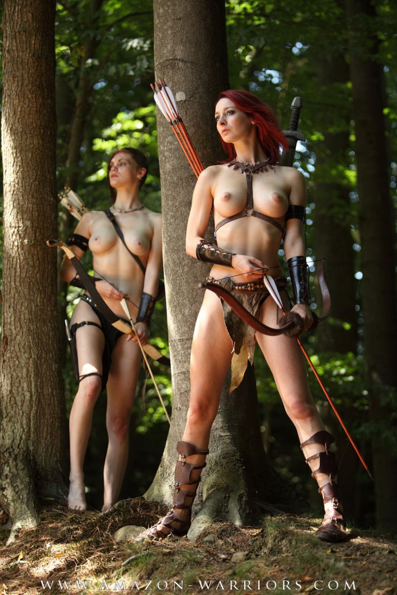 Naked female warrior cosplay adult picture