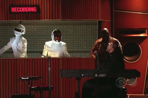 Daft Punk and Pharell Williams and Stevie Wonder Grammys